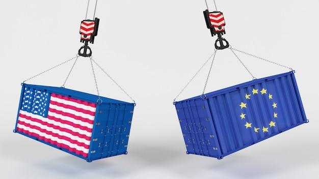 Renderização 3d dos eua import tarrifs