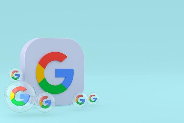 Renderização 3d dos ícones do google