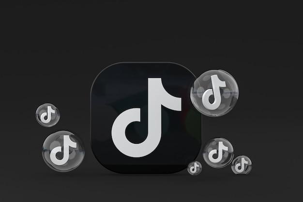 Renderização 3d dos ícones do tiktok