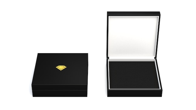Renderização 3d em caixas em branco isoladas em branco