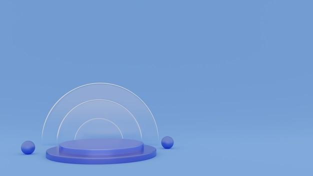 Renderização 3d fundo de pódio para apresentação de produtos cosméticos. foto premium