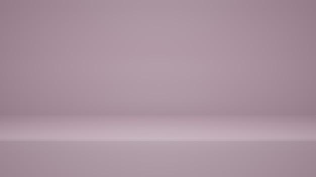 Renderização 3d, fundo de sala de estúdio de cor rosa vazia com espaço de cópia para exibir produto ou site de banner