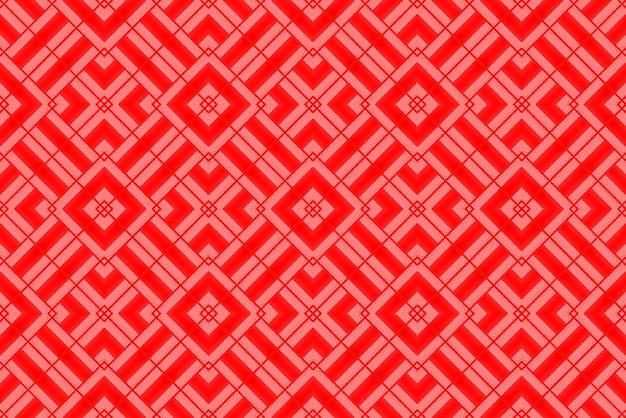 Renderização 3d. fundo moderno da parede do projeto do teste padrão da telha da arte da grade do quadrado vermelho.