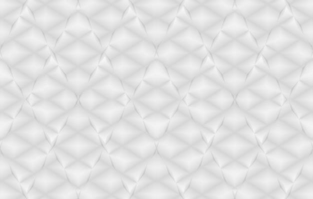 Renderização 3d. fundo sem emenda da parede da telha do projeto da arte da grade do quadrado branco.