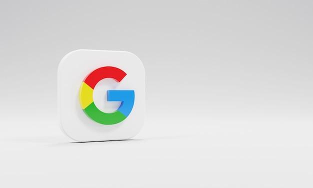 Renderização 3d ícone logotipo google realista