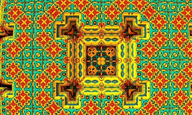 Renderização 3d. imagem fractal de um objeto 3d. paisagem fractal. uma imagem colorida gerada por computador. o fundo do fractal. texturas para o design. pintura abstrata. padrão