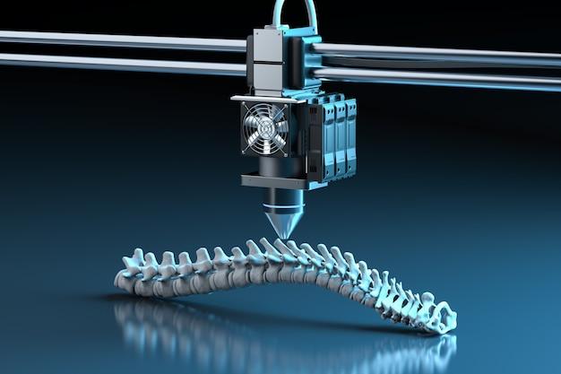 Renderização 3d impressora 3d imprimir prótese