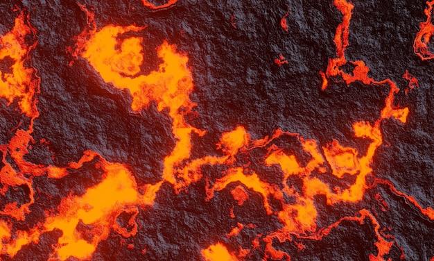Renderização 3d. lava basáltica abstrata.