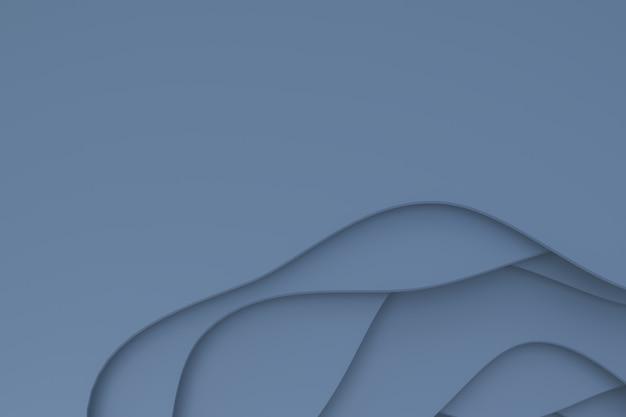 Renderização 3d, papel cinza abstrato cortar arte base projeto para modelo de site ou modelo de apresentação, fundo cinza, espaço vazio cópia para festa, promoção banners de mídia social, cartazes
