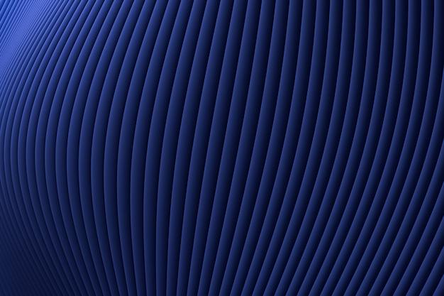 Renderização 3d, parede abstrato arquitetura onda azul luxo fundo, fundo azul luxo para apresentação, portfólio, site