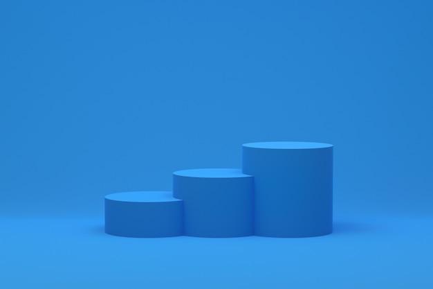 Renderização 3d, pódio mínimo abstrato para apresentação de produtos cosméticos, forma geométrica abstrata