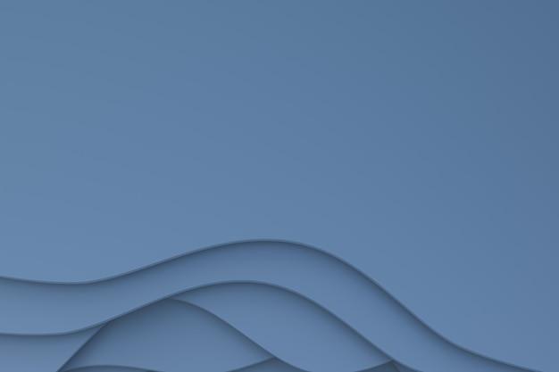 Renderização 3d, projeto de fundo abstrato de arte de corte de papel cinza para modelo de cartaz, fundo cinza, fundo abstrato de padrão