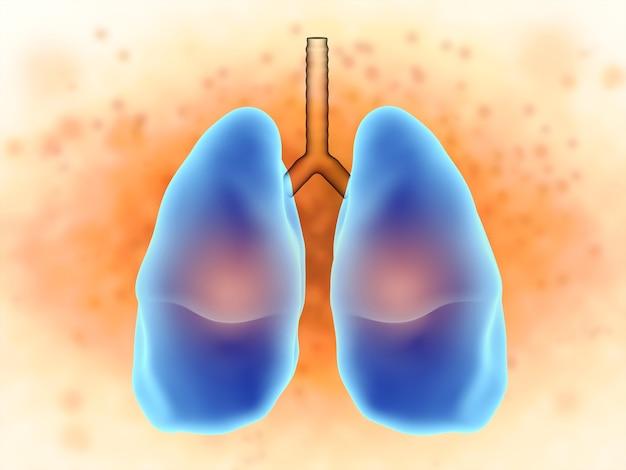 Renderização 3d pulmões com dor