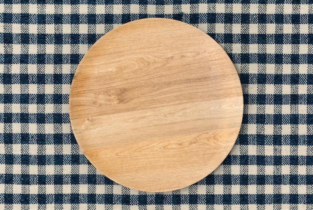 Renderização 3d vista superior do prato de madeira