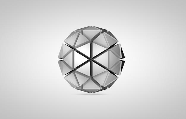 Renderização abstrata de esfera baixa poli