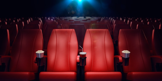 Renderização d de cinema vazio
