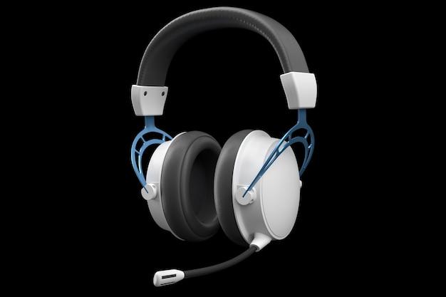 Renderização d de fones de ouvido para jogos com microfone para jogos em nuvem e streaming