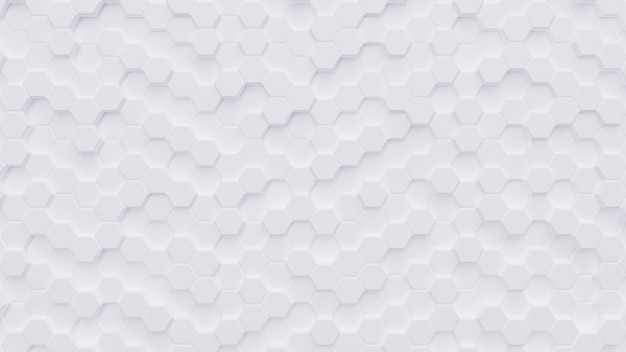 Renderização de background.3d de padrão de hexágono branco