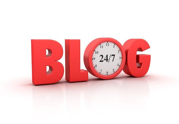 Renderização de blog word com relógio