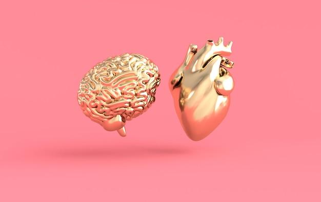 Renderização de coração e cérebro