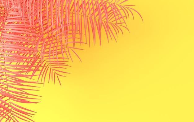 Renderização de folhas de palmeira tropical