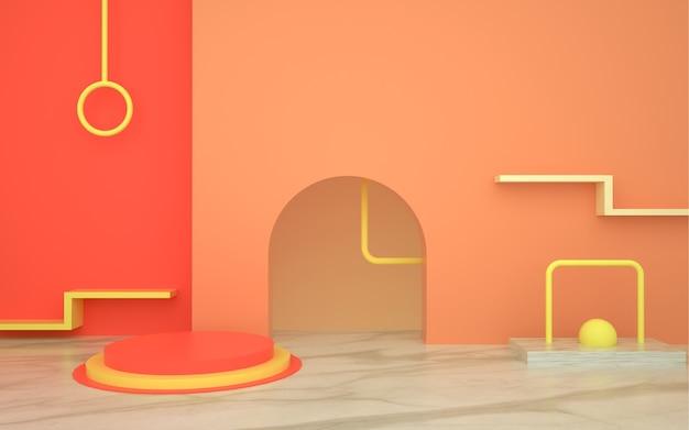 Renderização de forma geométrica abstrata para produto de exibição