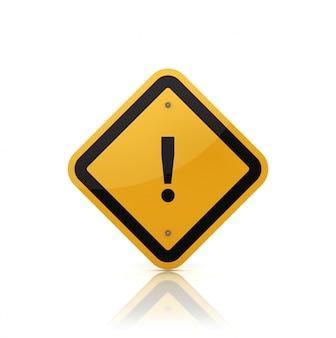 Renderização de ilustração de sinal de estrada com ponto de declaração
