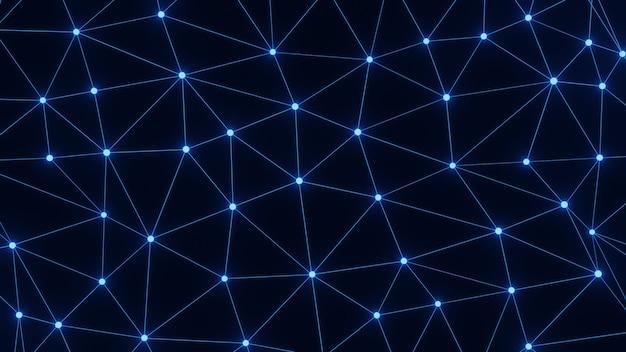 Renderização de linha de rede azul