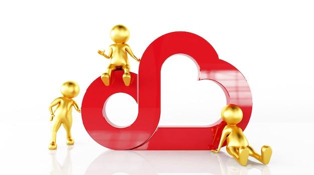 Renderização de modelos 3d juntos no amor