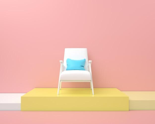Renderização de pódio com uma cadeira