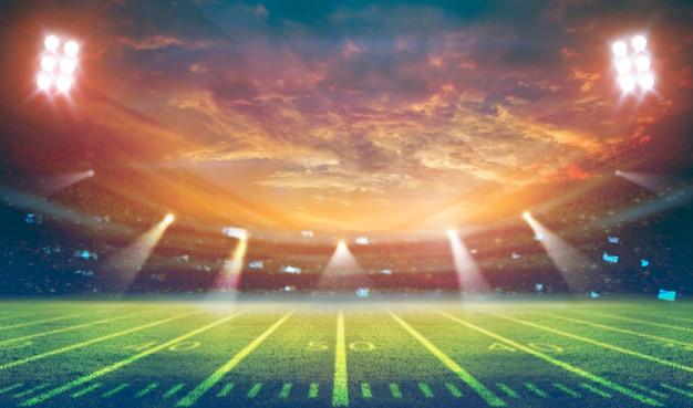 Renderização do estádio de futebol americano 3d