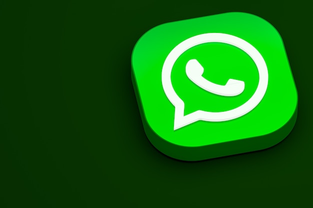 Renderização do ícone 3d do logotipo do whatsapp