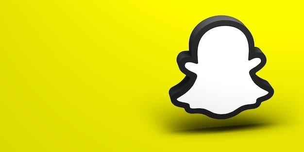 Renderização do logotipo 3d da mídia social