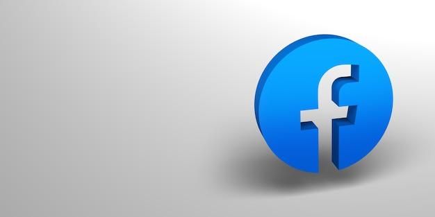 Renderização do logotipo social media3d