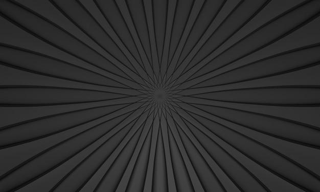 Renderização em 3d. abstrato preto redemoinho torção arte design parede plano de fundo.