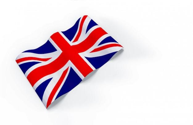 Renderização em 3d. acenando a bandeira nacional do reino unido.