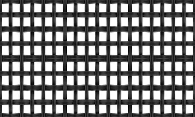 Renderização em 3d. corrente de metal preto com fio de malha com traçado de recorte isolado no fundo branco.