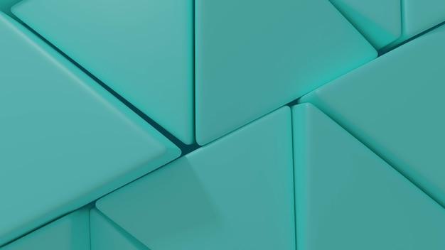 Renderização em 3d de fundo moderno padrão triangular