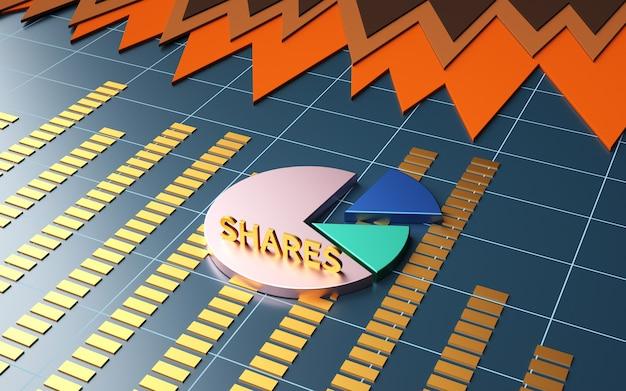 Renderização em 3d de futuros do mercado de ações de business insider