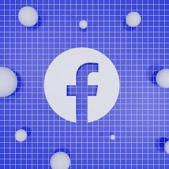 Renderização em 3d de logotipo de mídia social
