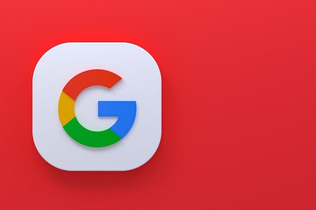 Renderização em 3d do logotipo do aplicativo google