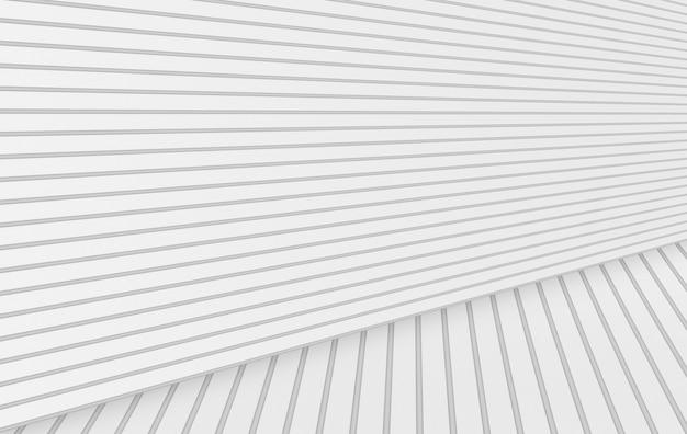 Renderização em 3d. fundo branco mínimo moderno do assoalho da parede dos painéis.