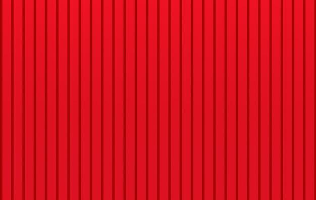 Renderização em 3d. fundo de parede de painéis paralelos de metal vermelho moderno
