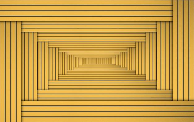 Renderização em 3d. fundo luxuoso do projeto do teste padrão da arte da ilusão dourada.