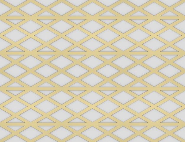 Renderização em 3d. moderna sem costura luxuoso triângulo ouro linha de grade padrão projeto parede plano de fundo.