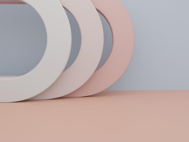 Renderização em 3d objetos geométricos mínimos de fundo de exibição de produtos para produtos de beleza ou da moda