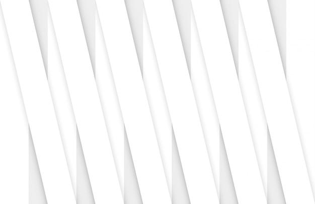 Renderização em 3d. painel branco paralelo abstrato barra de parede padrão.
