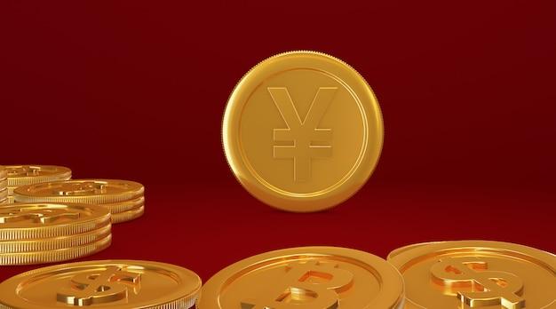 Renderização em 3d para a moeda digital nacional da china dcep