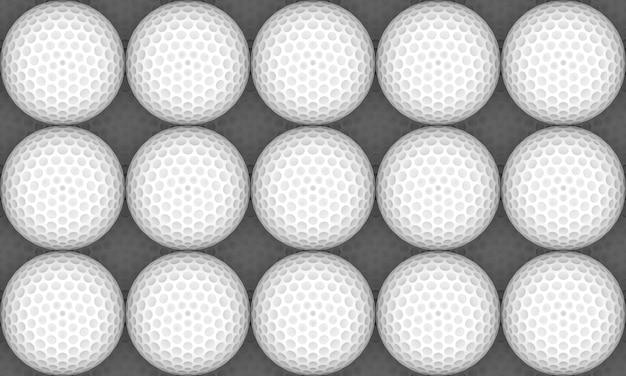 Renderização em 3d. parede de superfície de bola de golfe branco sem costura.