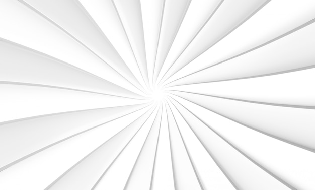 Renderização em 3d. placa branca redemoinho torção arte design parede plano de fundo.